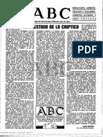 Artigo = El Prestigio de lo Criptico