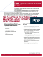 Stage 1 Childcare Protocols