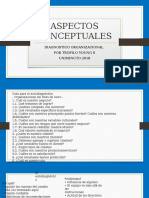 DIAGNOSTICO ORGANIZACION ASPECTOS CONCEPTUALES
