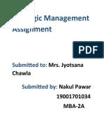 Strategic Management Assignment nakul