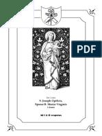 I y II Vísperas Gregorianas de San Jose Obrero, Esposo de la Virgen María, Confesor. 1 de mayo. I clase.