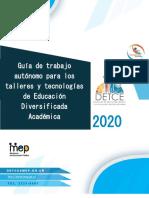 Guía de trabajo autónomo Talleres-Tecnologías 2020