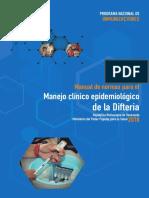 Manual de normas para el manejo epidemioloogico de la difteria 2018