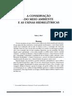 conservacao usinas hidreletricas Silva