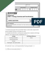 Jan 2011 Biology Unit 5 Article Questions