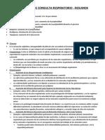 MOTIVO DE CONSULTA RESPIRATORIO - RESUMEN
