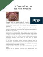 4 Remedios Caseros Para Las Hemorroides