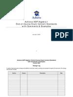 ADP Algebra I Exam Standards