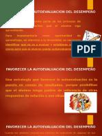 17. FAVORECER LA AUTOEVALUACIÓN DEL DESEMPEÑO
