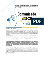 COMUNICADOS DE OSCE SOBRE REGULARIZACIÓN DE DOCUMENTOS