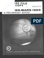 Mariner-Mars 1969 A Preliminary Report