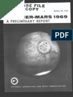 Mariner-Mars 1969 A Preliminary Report