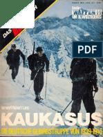 Das III Reich Sondersheft 08 Kaukasus Waffen SS Die Deutsche Gebirgstruppe Von 1939-1945