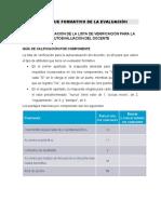 9. Guía de calificación de la lista de verificación  para la autoevaluación  del docente