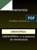 Amenorreia Dra Luisa