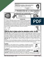 1. DEFENSA Y PROMOCION DE LA VIDA   5º