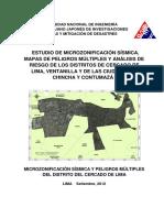 Estudio de microzonificacion sismica y peligros multiples del distrito del Cercado de Lima