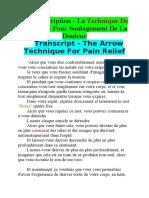 Transcript - The Arrow Technique For Pain Relief--fr