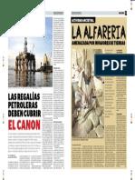 LAS REGALIAS PETROLERAS DEBEN CUBRIR EL CANON