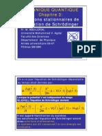 Chapitre 3 Solutions stationnaires de l'équation de Schorodinger