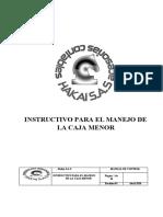 INSTRUCTIVO PARA EL MANEJO DE  LA CAJA MENOR.docx
