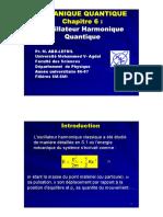 Chapitre 6 Oscillateur Harmonique Quantique