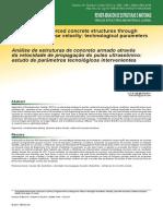 Análise de estruturas de concreto armado através da velocidade de propagação do pulso ultrassônico - estudo de parâmetros tecnológicos intervenientes - 2017