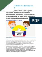 Qué es el Gobierno Escolar en Colombia