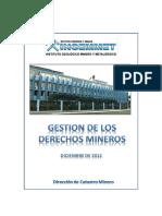 ESTADISTICA DE DERECHOS MINEROS