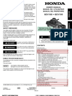 Honda GCV 160 Manual