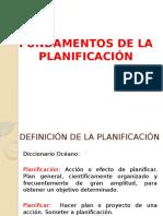 Fundamentos de La Planificación