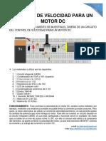 CONTROL DE VELOCIDAD PARA UN MOTOR DC