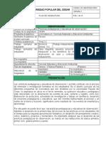 PLAN DE ASIGNATURA PRACTICAS PEDAGOGICAS DE OBSERVACION I