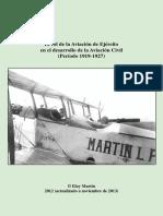Rol de Aviacion de Ejercito en Desarrollo Aviación Civil-1919-1927 (2013)