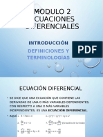 ecuaciones Diferenciales modulo 2
