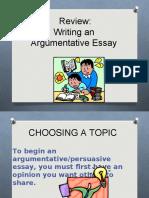 Review Argumentative essay