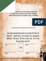Certificado de Bautismo Ejemplo