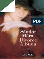Sandor Marai - Divorce a Buda- Jericho