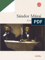 Sandor Marai - Les braises- Jericho