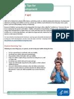 positive parenting tip sheet