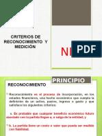CRITERIOS DE RECONOCIMIENTO Y MEDICIÓN
