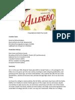 Allegro Handout
