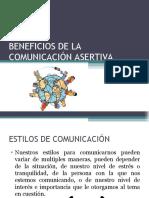 BENEFICIOS DE LA COMUNICACIÓN ASERTIVA