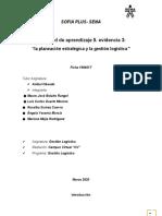 Evidencia 3 La planeación estratégica y la gestión logística_grupo 7