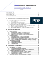 562 Analiza Tehnico-economica a Capacitatii de Productie (S.C. XYZ S.a.)