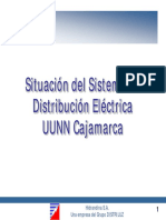 Situacion del sistema de distribucion de electricidad Hidrandina