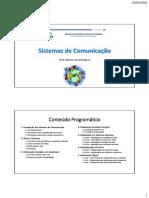 Sistemas de Comunicação - aula 1