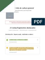 """Notas de """" 1 Kilo de cultura general """""""