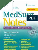 MedSurg Notes - Nurse's Clinical Pocket Guide (FA Davis, 2007)