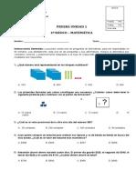 PRUEBA DE LA UNIDAD 1 EDUCACIÓN MATEMÁTICA 4º BÁSICO